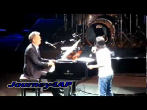 ARNEL PINEDA SURPRISED BY PETER CETERA OF CHICAGO ON STAGE - LIVE W/ DAVID FOSTER