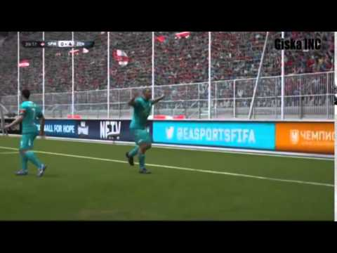 GamePlay PS 4 FIFA 15 Spartak Moskva vs Zenit St Russian League part 2