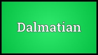 Dalmatian Meaning