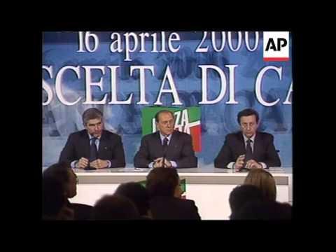 ITALY: ROME: POLITICAL CANDIDATE SILVIO BERLUSCONI