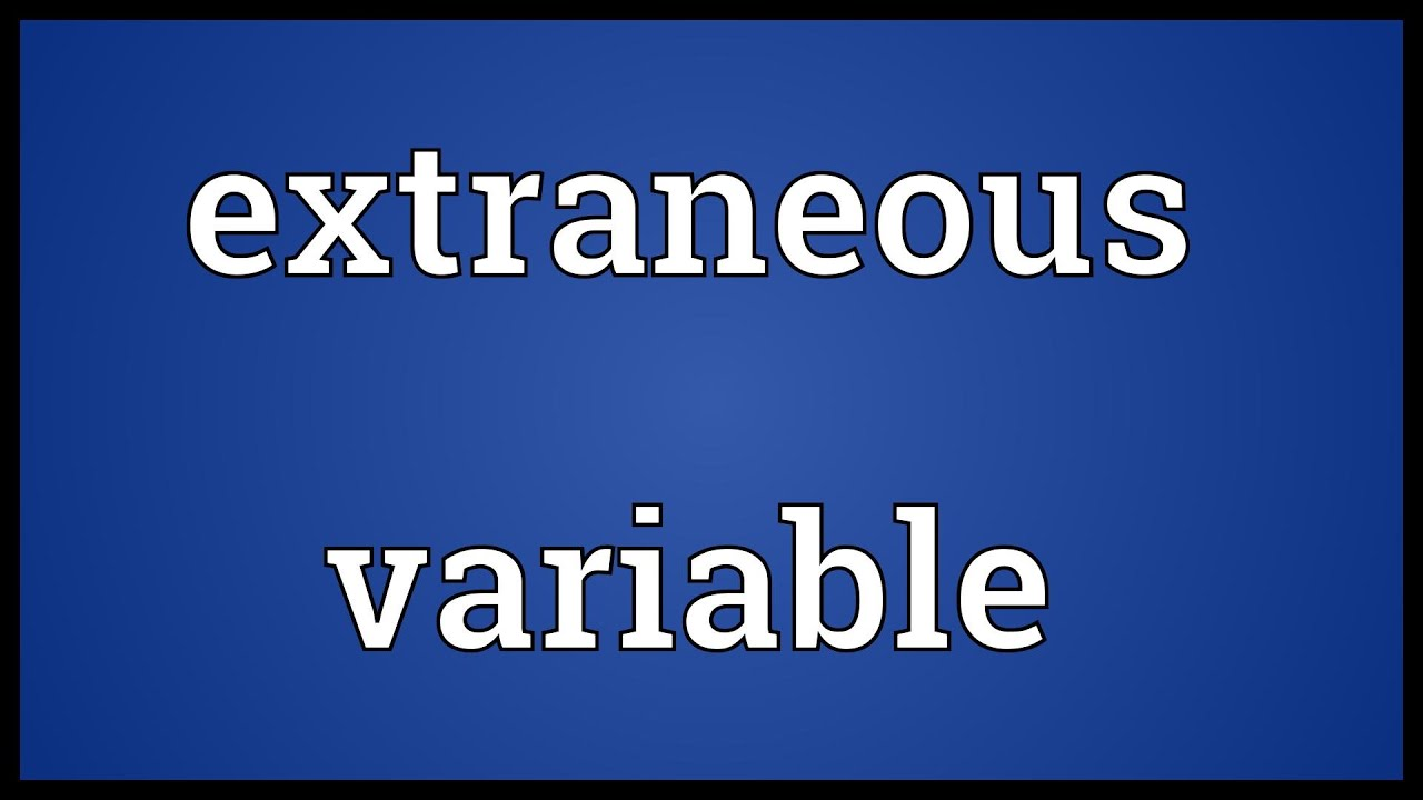 "extraneous variables Extraneous variables make it difficult to detect the effect of the independent variable in two ways one is by adding variability or ""noise"" to the data."