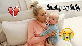 leaving my baby overnight for the first time :( + pack with me!
