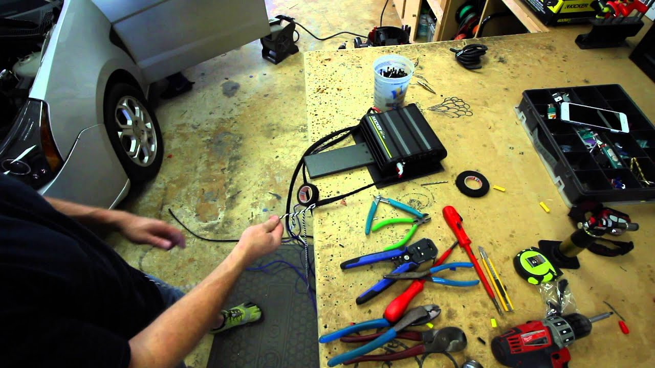 How We Pre Wire A Mono Amp For Installation Youtube Car Wiring Diagram