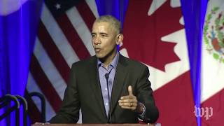 Obama delivers remarks at Chicago climate summit
