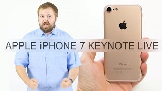 Apple iPhone 7 Keynote Live - презентация 7 сентября