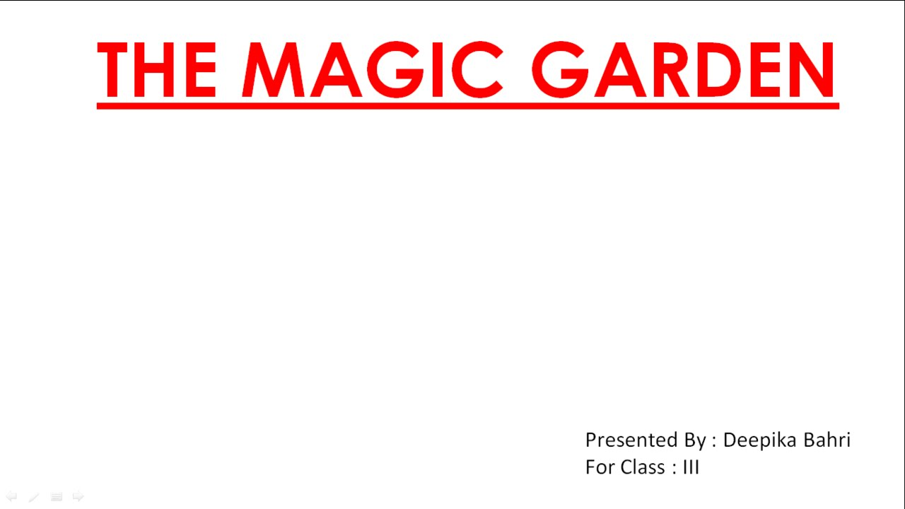 The Magic Garden CBSE Class III English Lesson Question and Answers ...