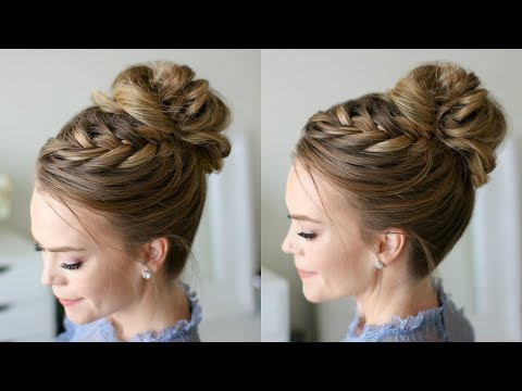 Fishtail French Braid High Bun | Missy Sue