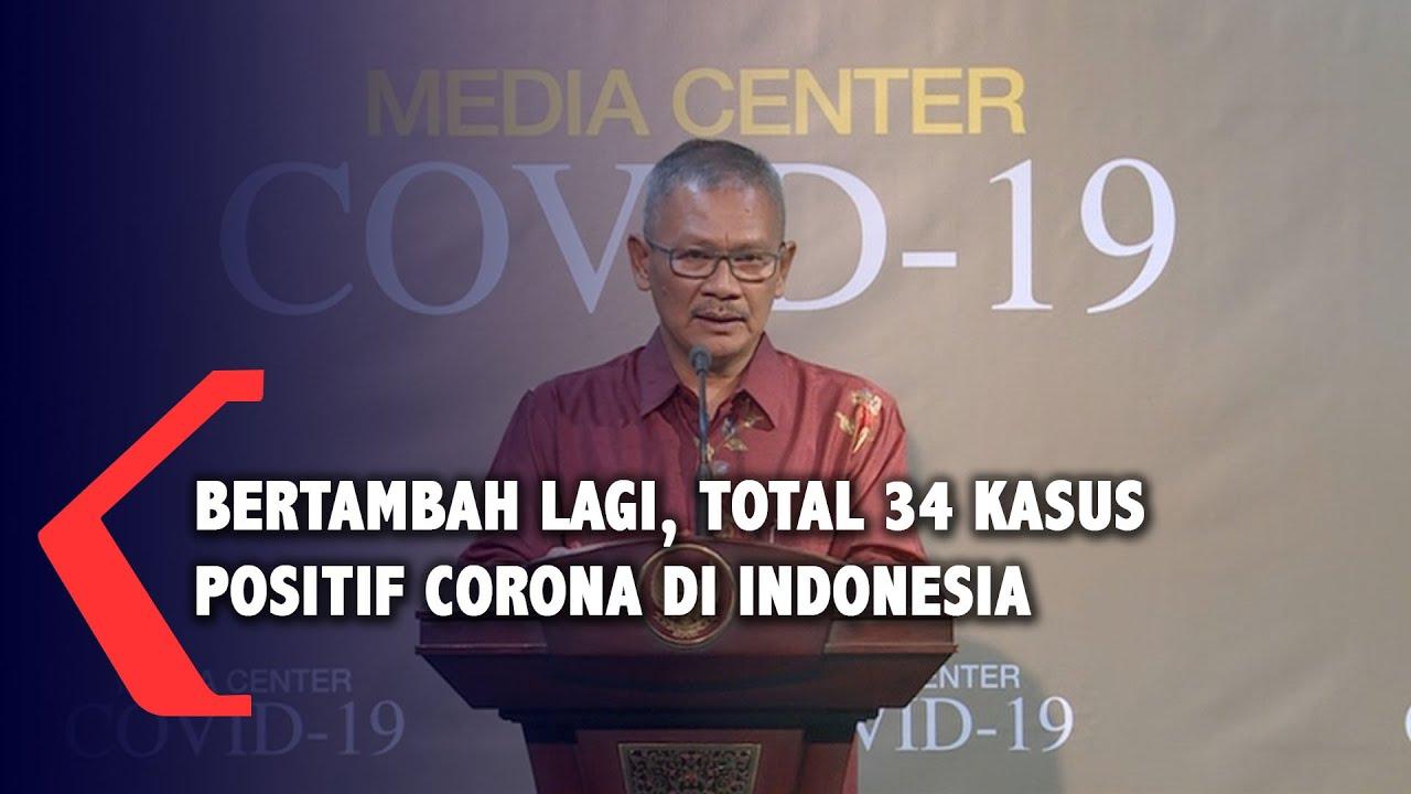 BREAKING NEWS - Bertambah Lagi, Pasien Positif Corona di Indonesia Jadi 34 Kasus