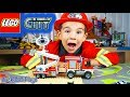 YouTube Turbo Lego City Fire Trucks Toy Unboxing and Speed Build: Fire Utility Truck