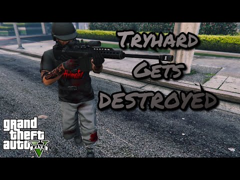 Tryhard Challenges Me To Beach, Then City, Then Rage Quits | GTA 5 Online