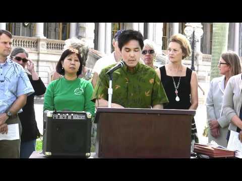 GM755 Press Conference at Iolani Palace, Honolulu, Hawaii