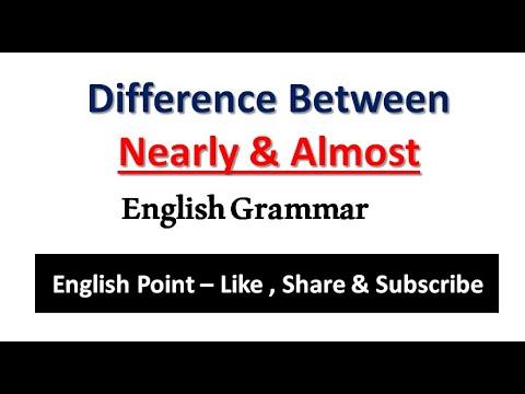 Use of NEARLY and ALMOST | English Grammar | #BiharTet | English Grammar