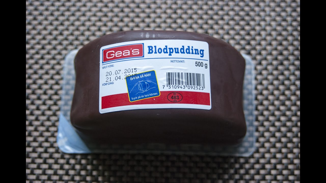 geas blodpudding näringsvärde