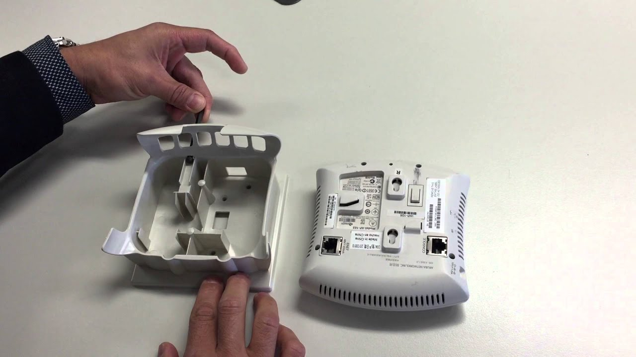How To Unmount An Aruba Iap 105 Access Point From The