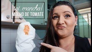 Como tirar mancha de molho de tomate! | Limpa Fácil