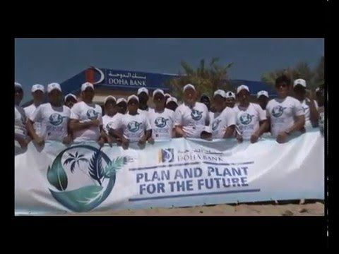 Doha Bank's Irrigation System project and Tree Planting event at Dukhan - 2016