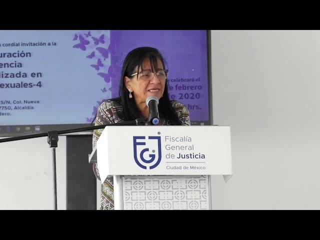 Discurso de la Presidenta de #CDHCM en reinauguración de Agencia Especializada en Delitos Sexuales
