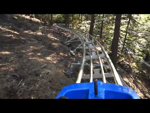 Berkshire East Mountain Coaster Test Ride 10 3 2014