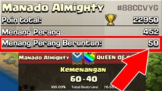 AKHIRNYA 50 War Win Streak (Menang War Terus 50 Kali) + Perfect Stars - Clash Of Clans Indonesia