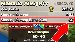 AKHIRNYA 50 War Win Streak (Menang War Terus 50 Kali) + Perfect Stars - Clash Of Clans Indonesia