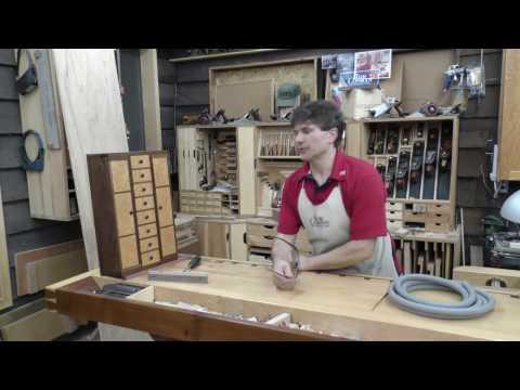 Rob Cosman's Birdseye Maple/Walnut wood hinged Jewelry Chest