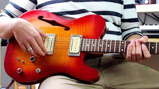 Vox Humana CarbonTech Custom Telecaster Thinline   Seymour Duncan P-Rails   VOX AC15C1