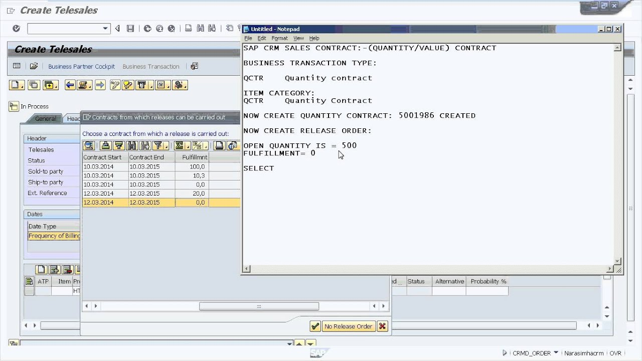 SAP CRM Sales Contract Quantity Contract YouTube – Sales Contract