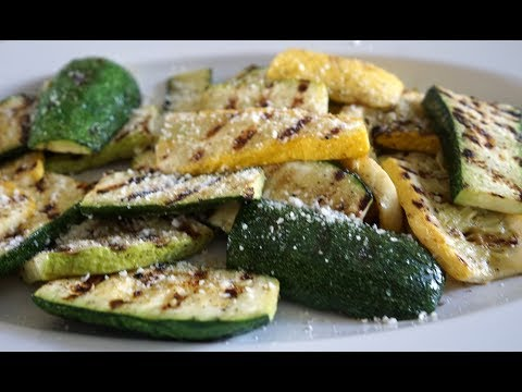 Grilled Squash and Zucchini on a Weber Q