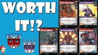Are the Exclusive Upgrade Cards Worth Playing? (Transformers TCG)