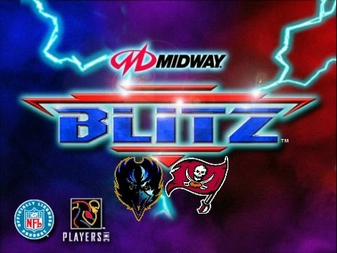 NFL Blitz PlayStation Gameplay - Baltimore Ravens vs. Tampa Bay Buccaneers