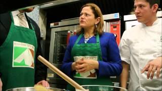 Seder Plate Demo With Masbia's Chef Ruben Diaz And Melissa Markviverito & David Greenfield