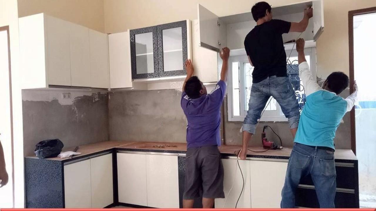 0853 4787 8600 Tsel Membuat Kitchen Set Dari Aluminium Banjarmasin