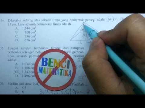Prediksi UN Matematika SMP-Luas Permukaan Limas No. 34