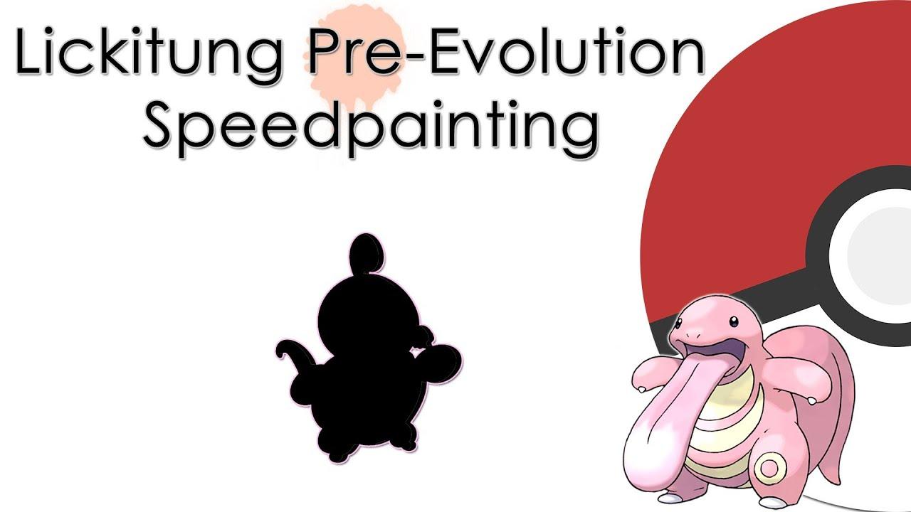Pokémon Speedpainting - Lickitung Pre-Evolution - YouTube