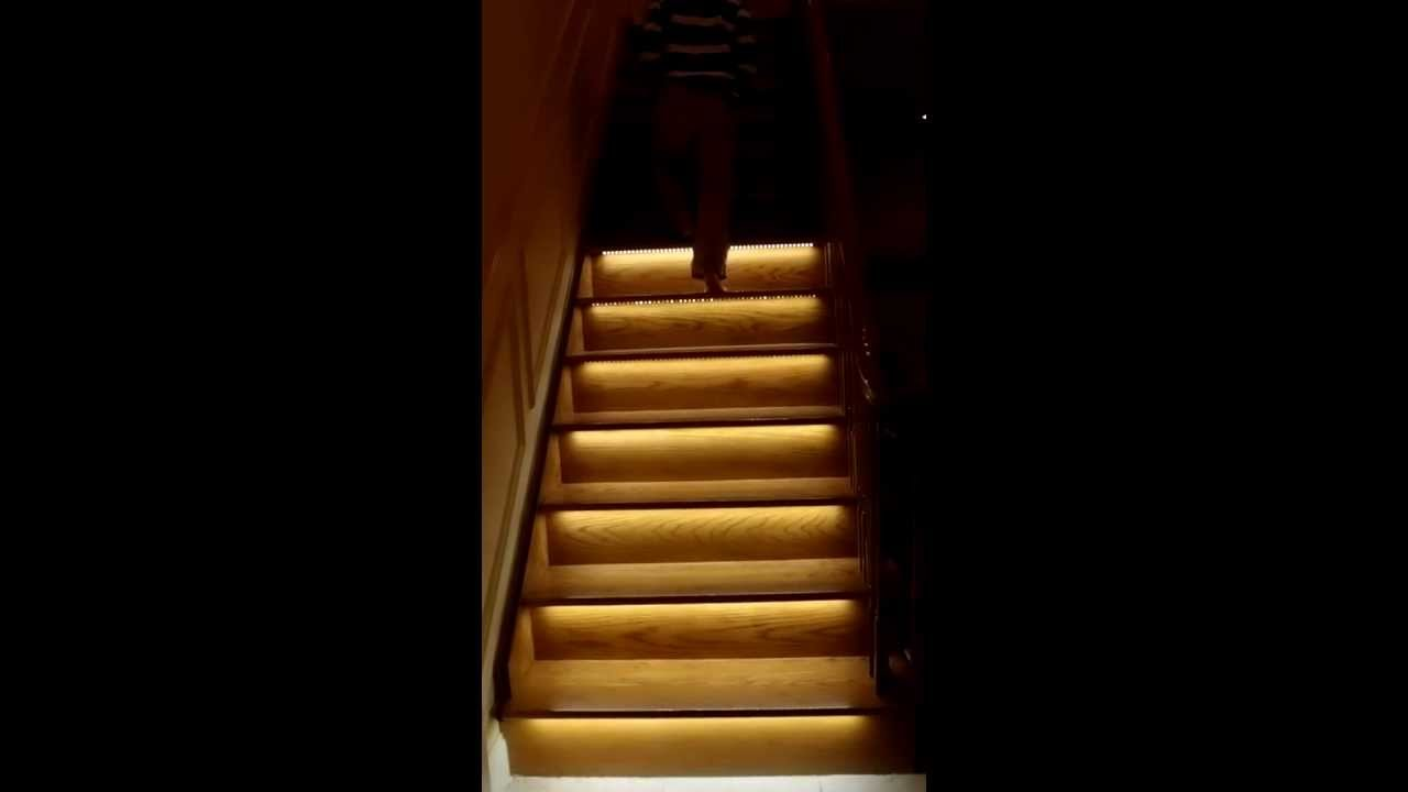 lighting stairs. Motion Activated Stair Light System. Part 1 Lighting Stairs