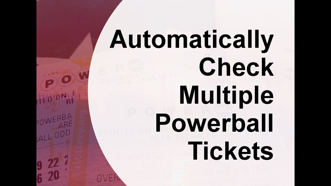 Powerball Ticket Check Australia
