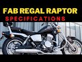 FAB Regal Raptor Motorcycles Launched in India   Cars and Bikes   Express TV   YouTube 720p