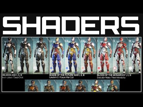 To customize your guardian armor color using shaders destiny dyes