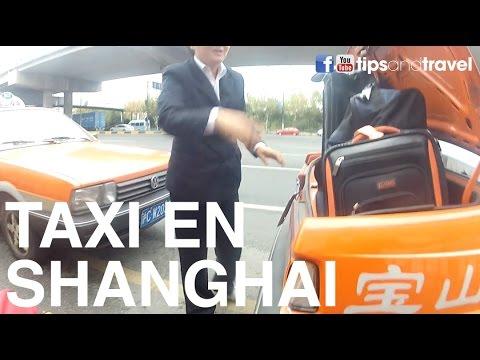 Conoce como son los taxis en Shanghai, China