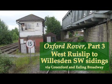 West Ruislip to Willesden SW sdgs via Greenford & Ealing Bdy – Hastings DEMU cab ride– 27 May 2017
