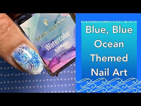 Blue Blue Ocean Themed Nail Art || Hēhē || 10% Discount Code - MANISHA