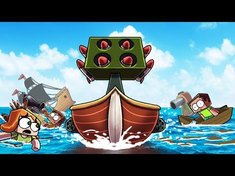 Minecraft | FREE FOR ALL BOAT WARS CHALLENGE! (Most Secure Boat Fort)