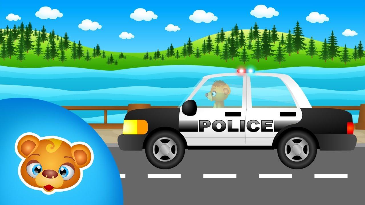 Samochód policyjny - pościg radiowozem