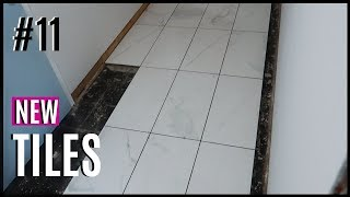 JOURNEY TO HOME #11 | WE HAVE NEW TILES | MUDROOM BASEMENT