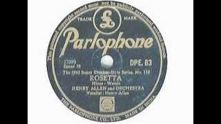 Henry Red Allen 1935 + Chu Berry + Dicky Wells + Cecil Scott - Rosetta
