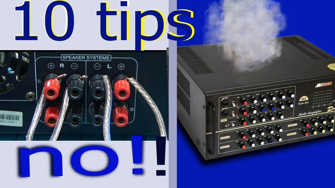 how to connect speakers to amplifier 10 tips to use speaker wiring speakers to amp in [ 1280 x 720 Pixel ]