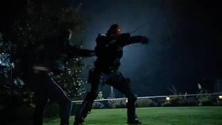 Команда Стрелы против Мерлина, Дарка и Слейда в кроссовере сериалов Флэш, Стрела, Легенды, Супергер