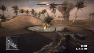 Battlefield: Bad Company - Conquest - Oasis (BFBC Online Multiplayer Gameplay)