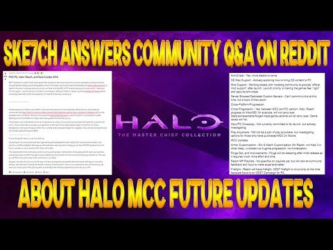 Halo News - 343i Does Halo MCC Q&A On Reddit | PC, Crossplay, Firefight,  Customization, Reach & MORE