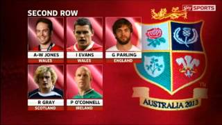 British & Irish Lions Tour Squad 2013